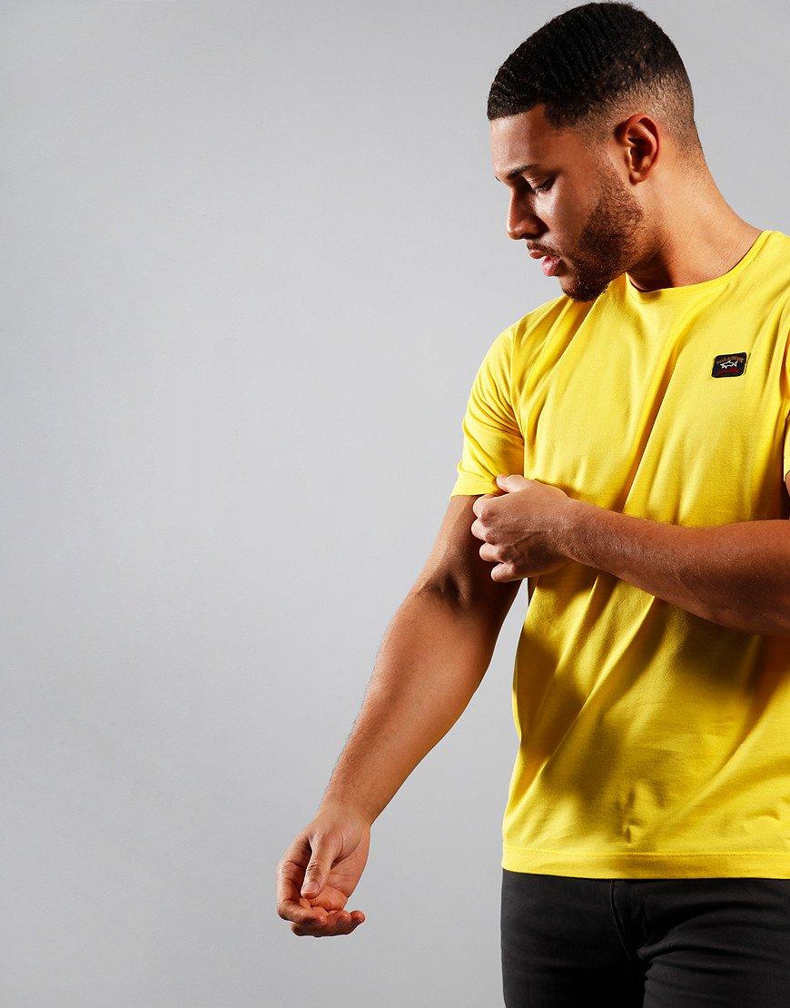 Paul & Shark Patch Logo T-Shirt Yellow