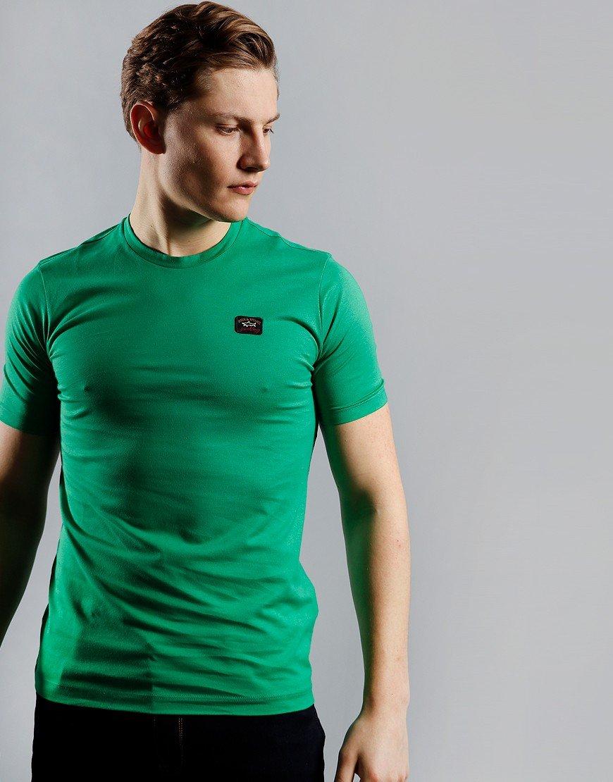 Paul & Shark Patch Logo T-Shirt Green