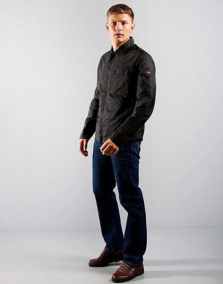 Paul & Shark Pocket Overshirt Black