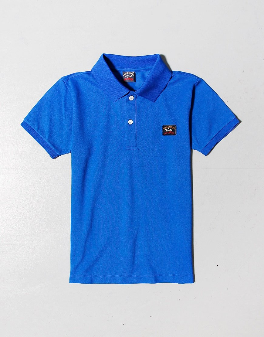 Paul & Shark Cadets Basic Polo Shirt Cobalt Blue
