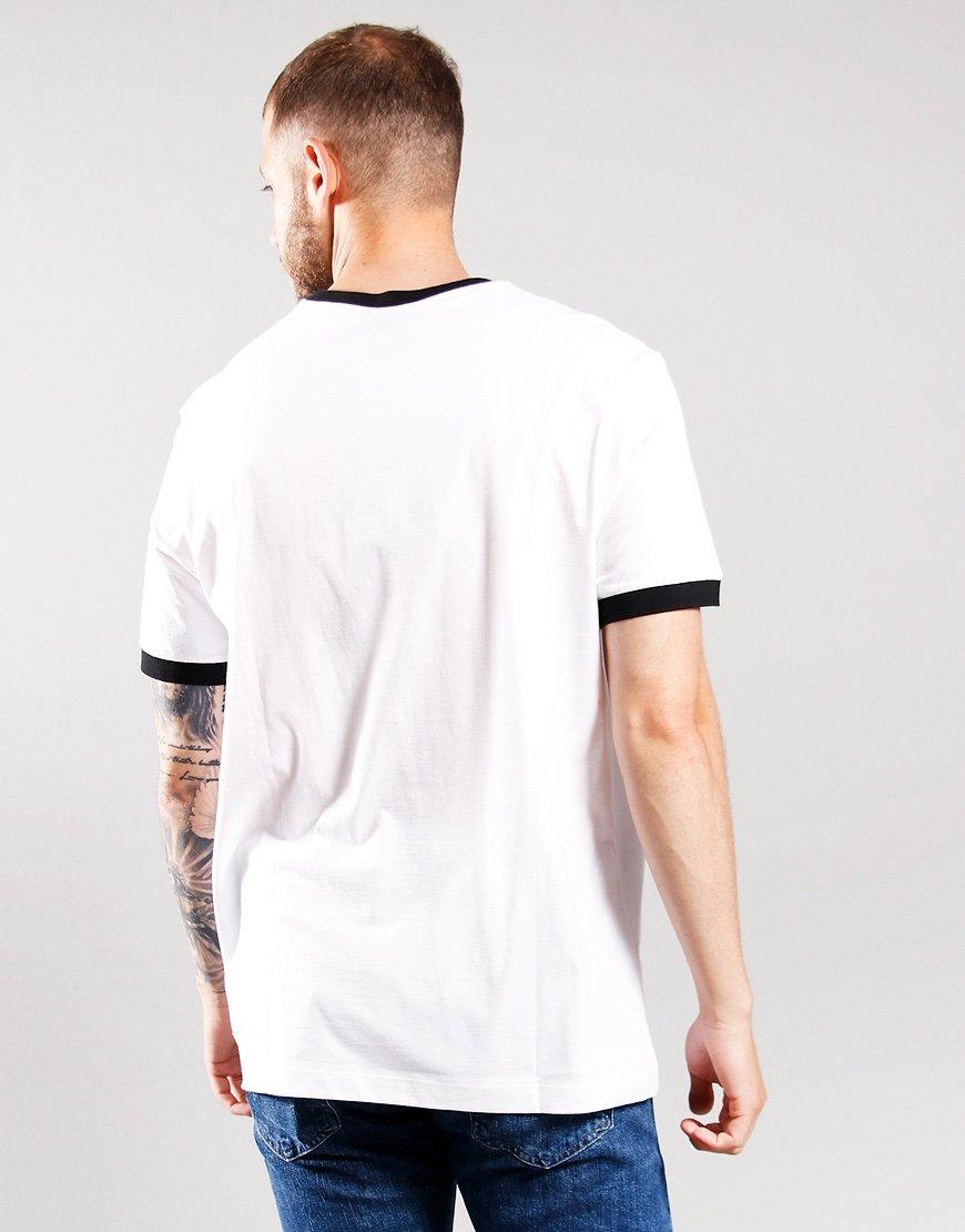 Paul & Shark Ringer Logo T-Shirt White