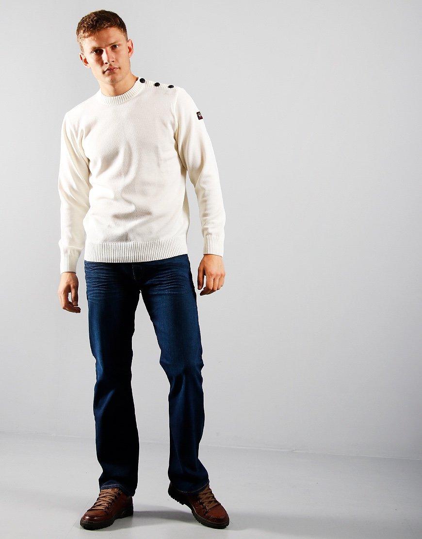 Paul & Shark Shoulder Button Knit White