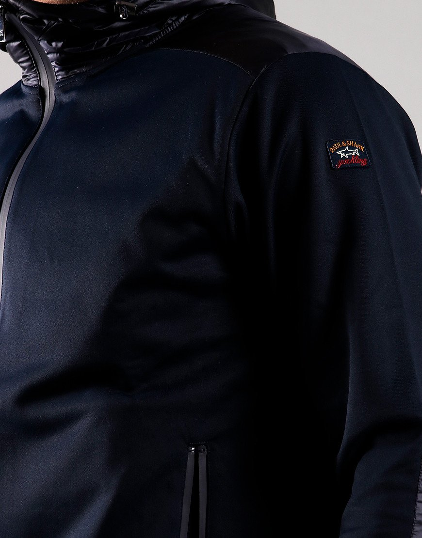 Paul & Shark Woven Hooded Jacket Blue