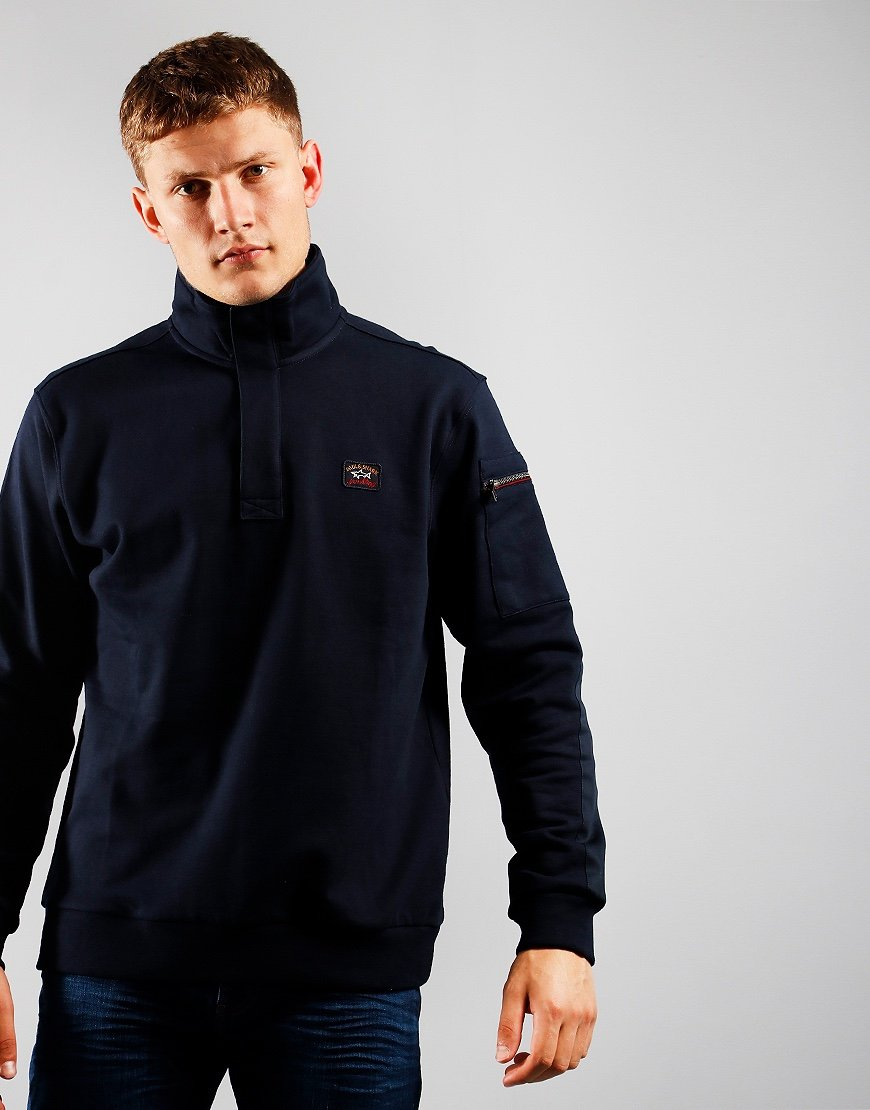 Paul & Shark Knitted Half Zip Blue