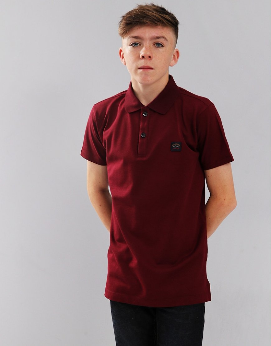 Paul & Shark Cadets Polo Shirt Bordeaux