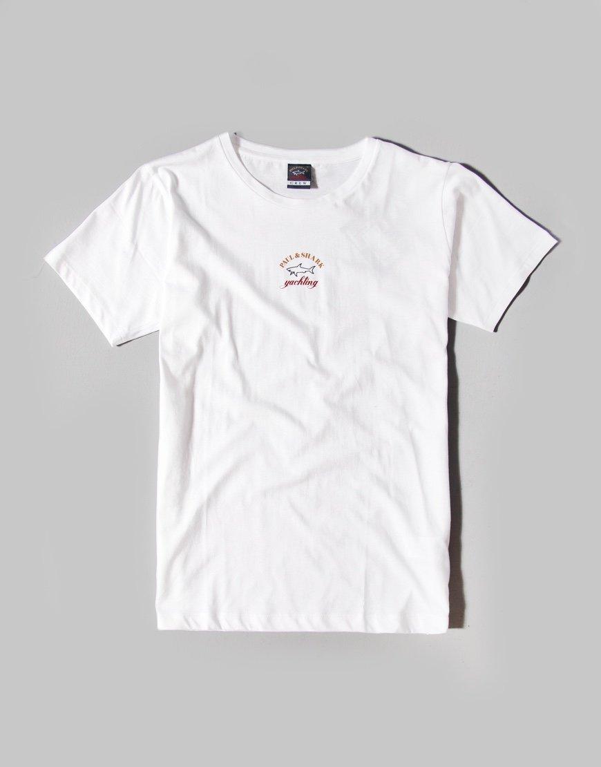 PauL & Shark Cadets Centre Logo T-shirt White