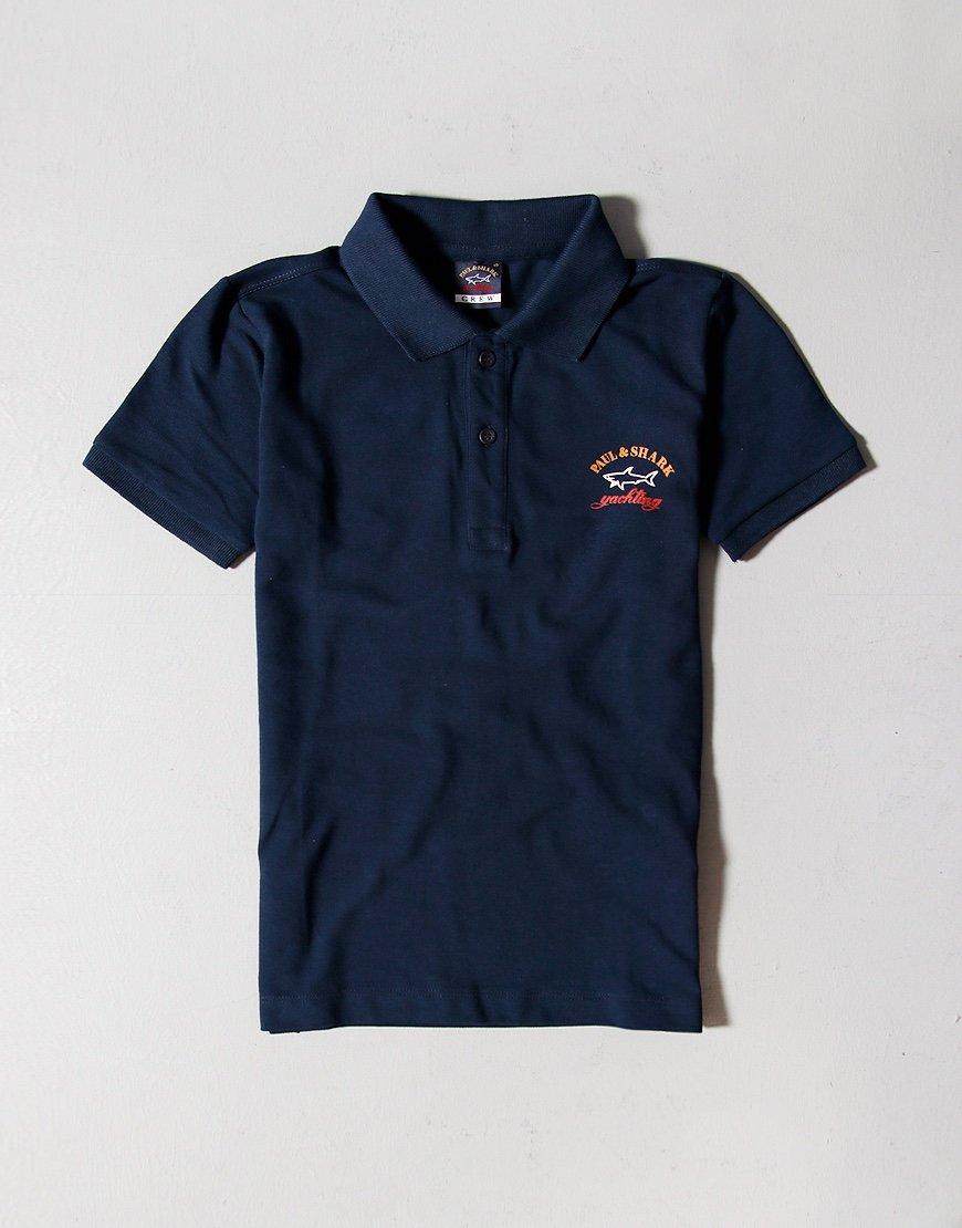 Paul & Shark Cadets Logo Polo Shirt Blue