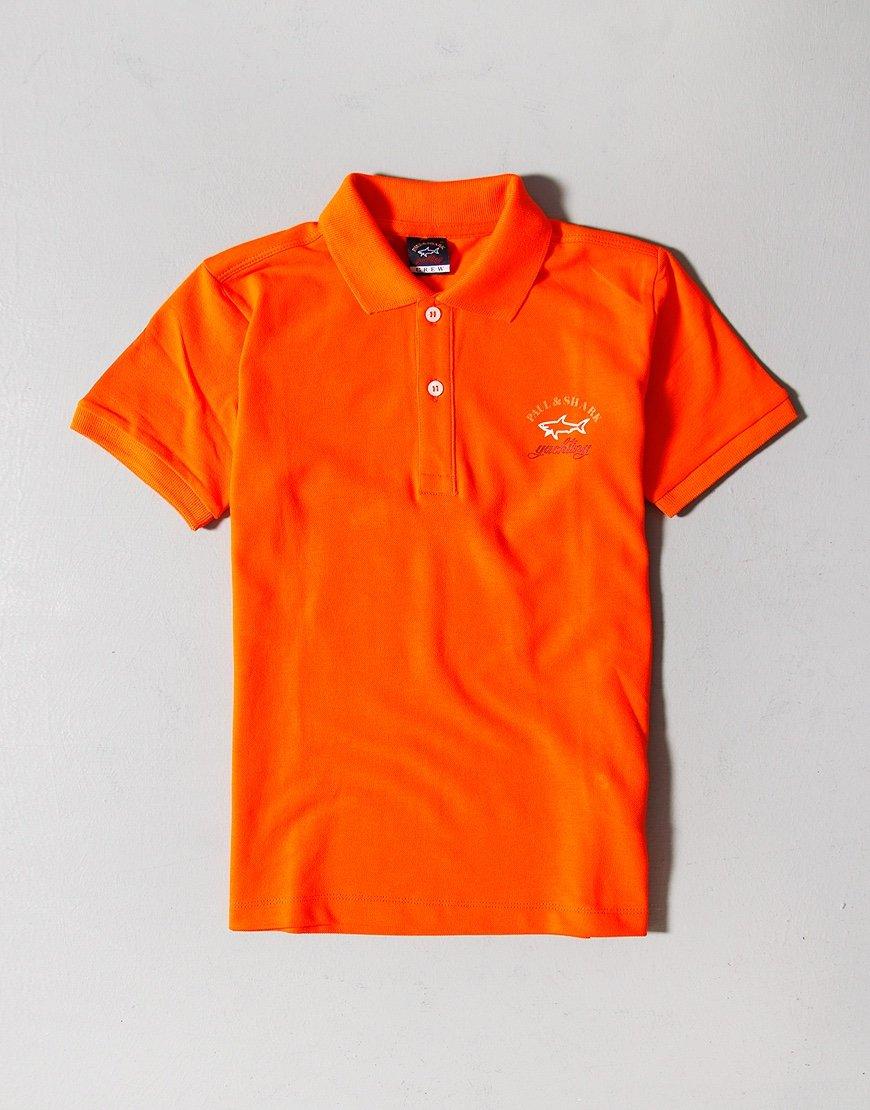 Paul & Shark Cadets Logo Polo Shirt Orange
