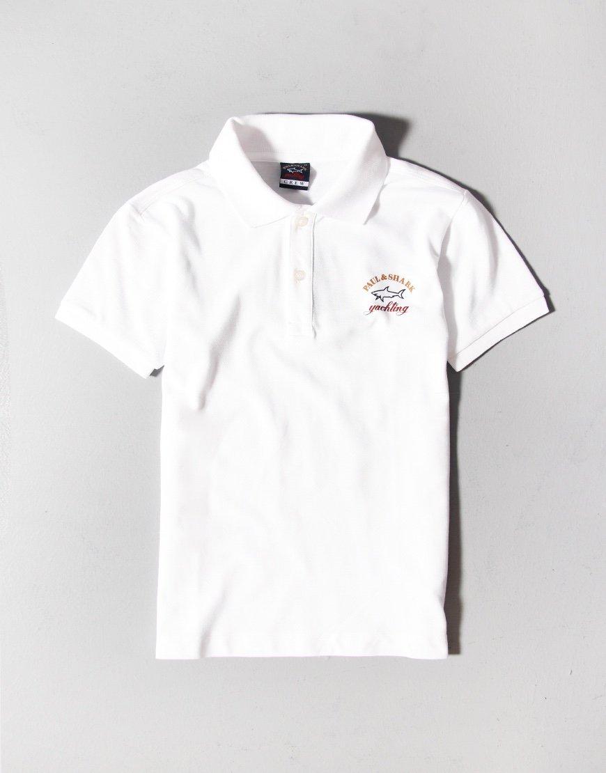 Paul & Shark Cadets Logo Polo Shirt White