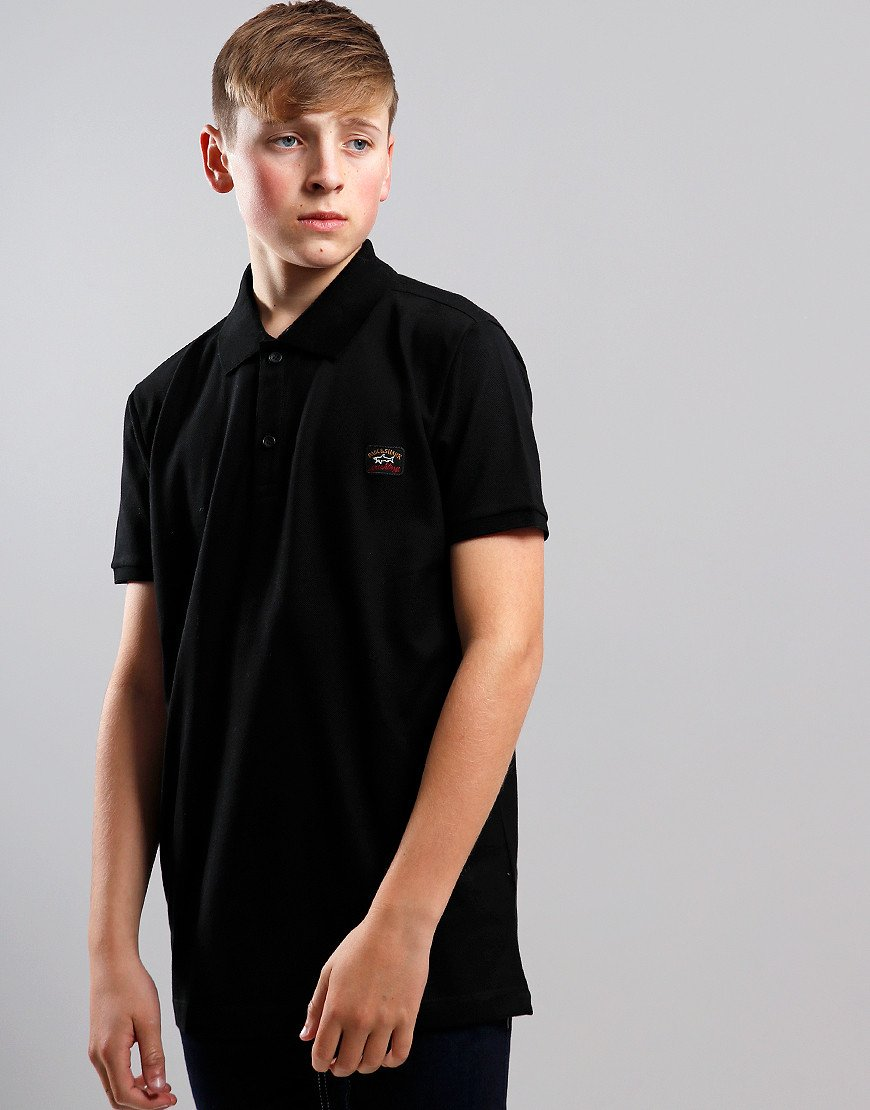Paul & Shark Cadets Basic Polo Shirt Black