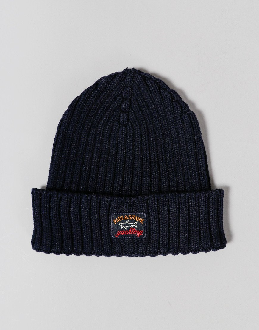 Paul & Shark Cadets Knitted Beanie Blue