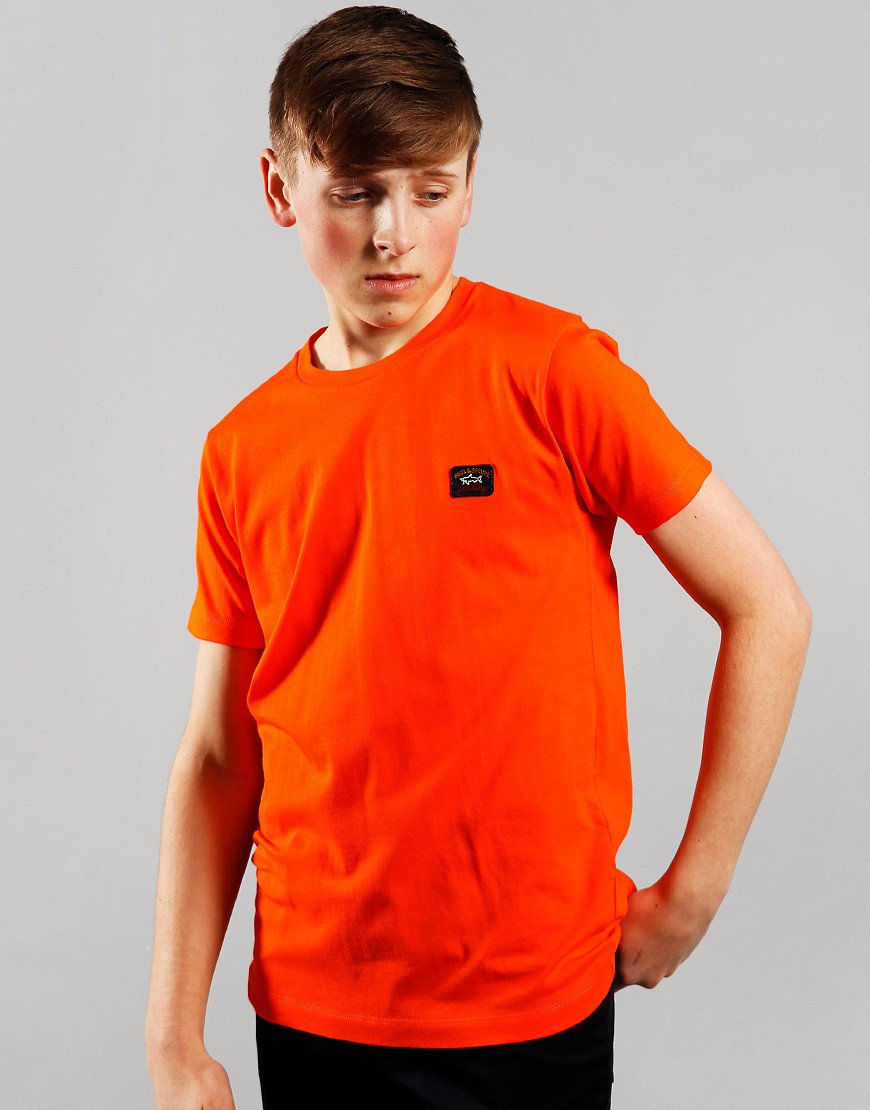 Paul & Shark Cadets Small Patch T-Shirt Orange