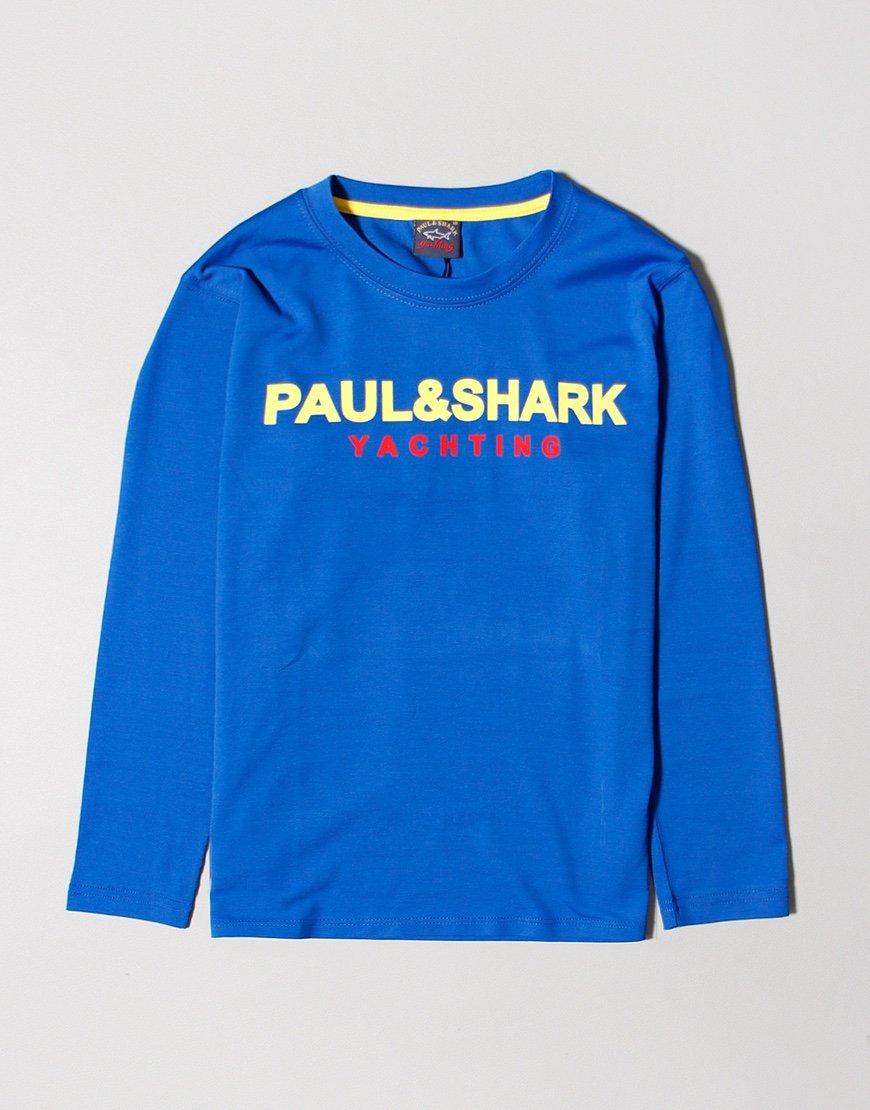 Paul & Shark Long Sleeved Print T-Shirt Cobalt