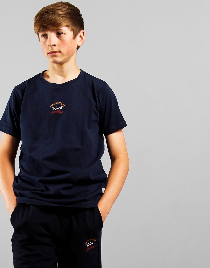 Paul & Shark Cadets Logo T-Shirt Blue