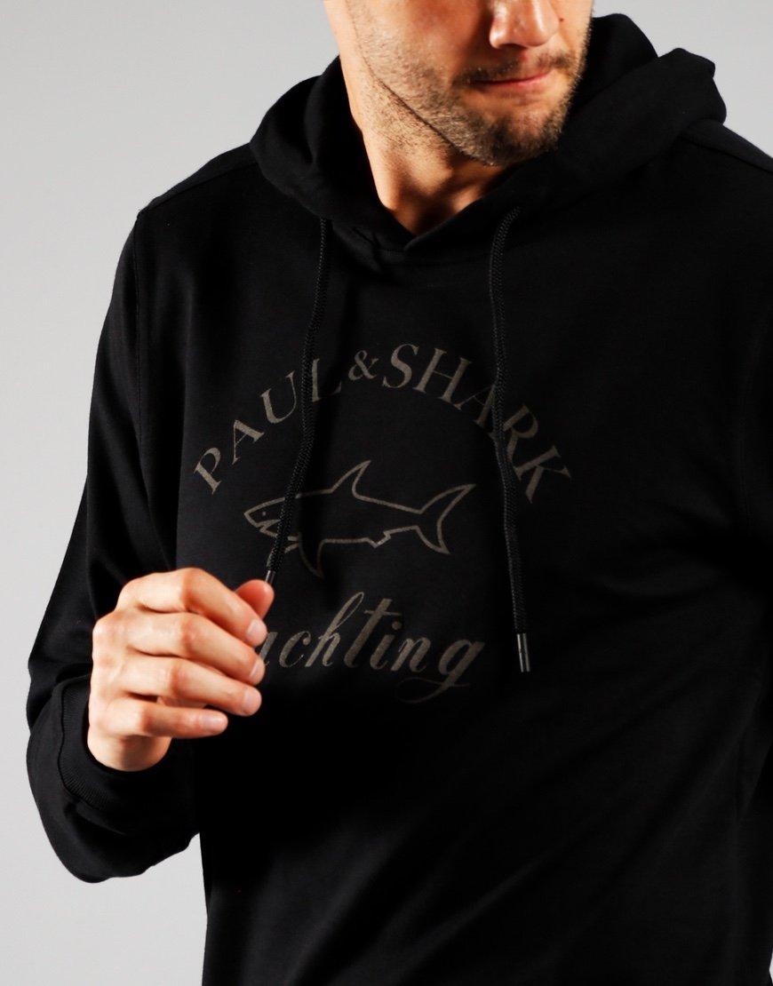 Paul & Shark Tonal Logo Hoodie Black