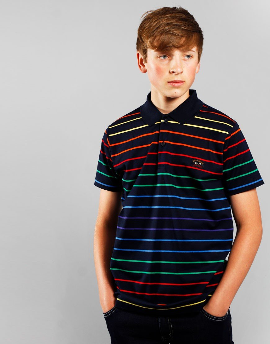 Paul & Shark Cadets Striped Polo Shirt Multicolour