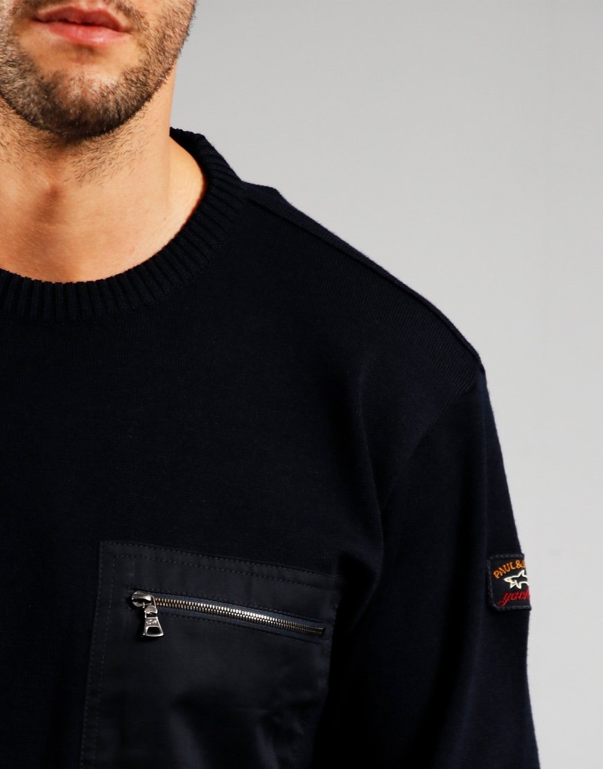 Paul & Shark Pocket Roudneck Knit Blue