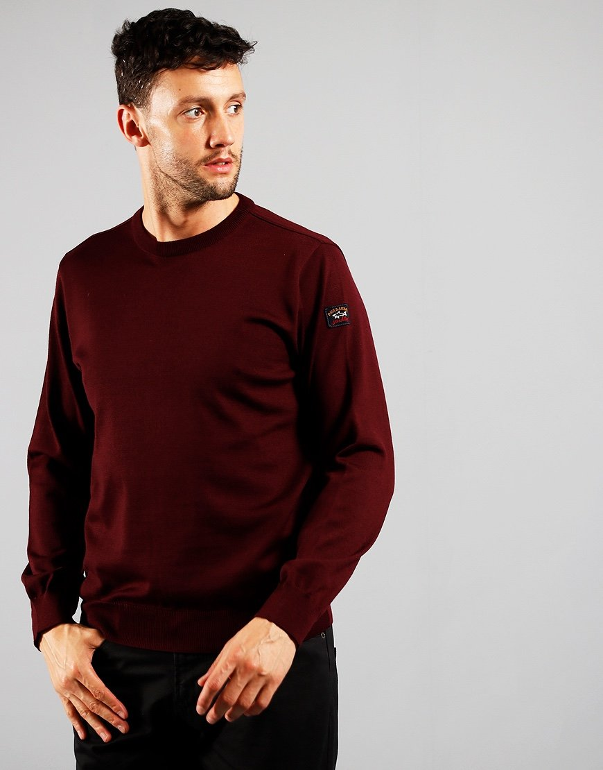 Paul & Shark Roundneck Knit Dark Wine