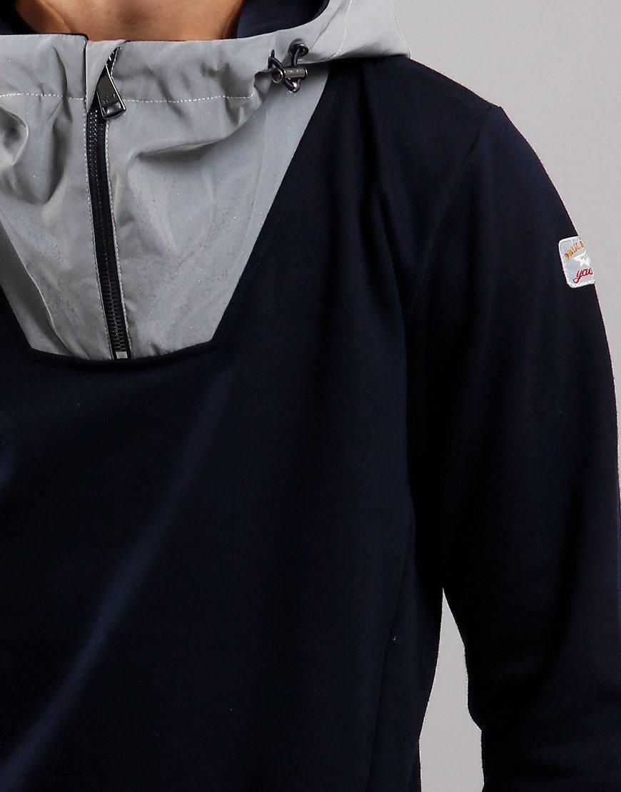 Paul & Shark Cadets Reflective Hooded Sweat Blue
