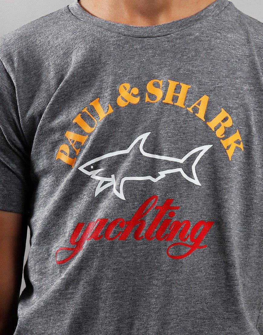 Paul & Shark Cadets Large Logo T-Shirt Grey