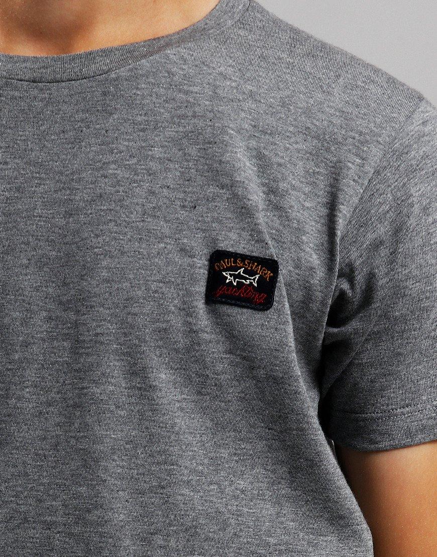 Paul & Shark Cadets Small Patch T-Shirt Grey