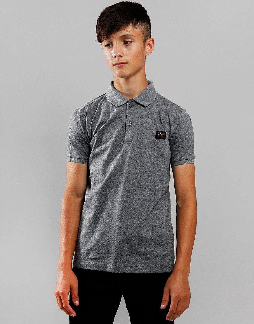 Paul & Shark Cadets Basic Polo Shirt Grey