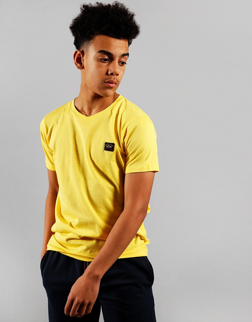 Paul & Shark Cadets Small Patch T-Shirt Yellow