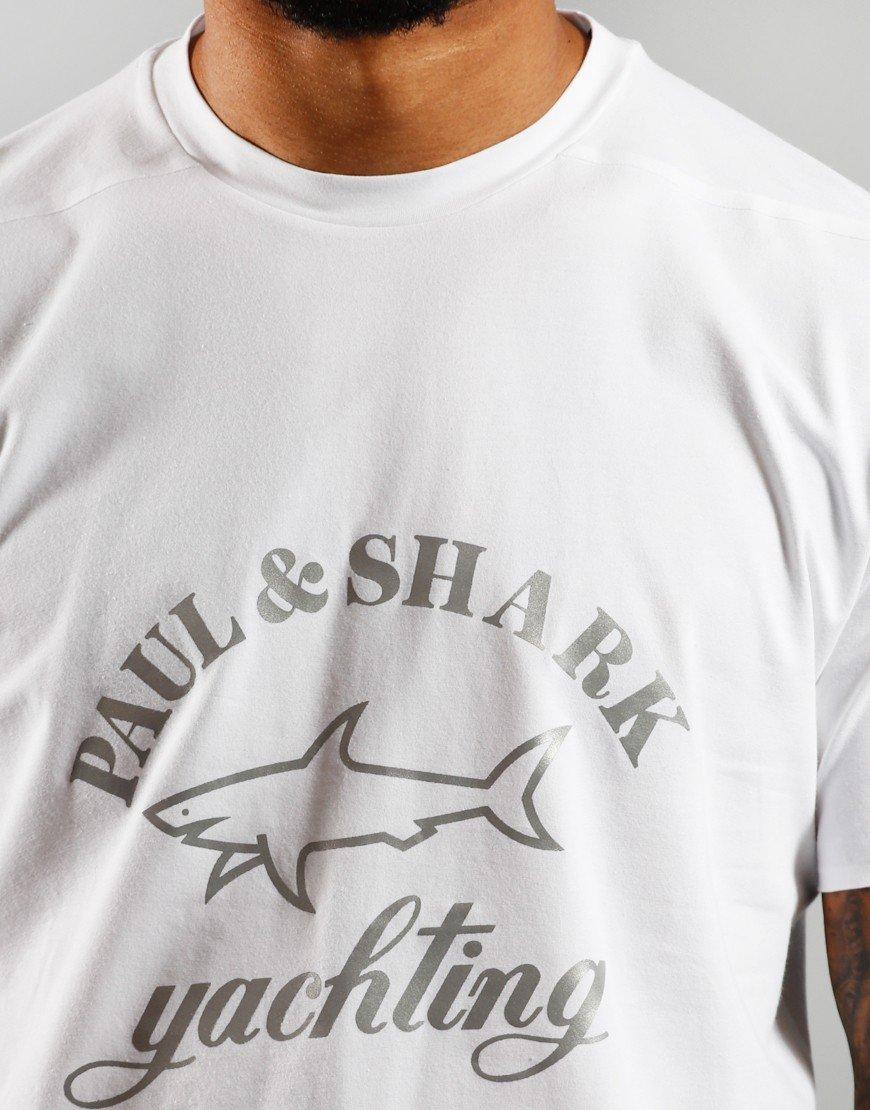 Paul & Shark Logo Tee White
