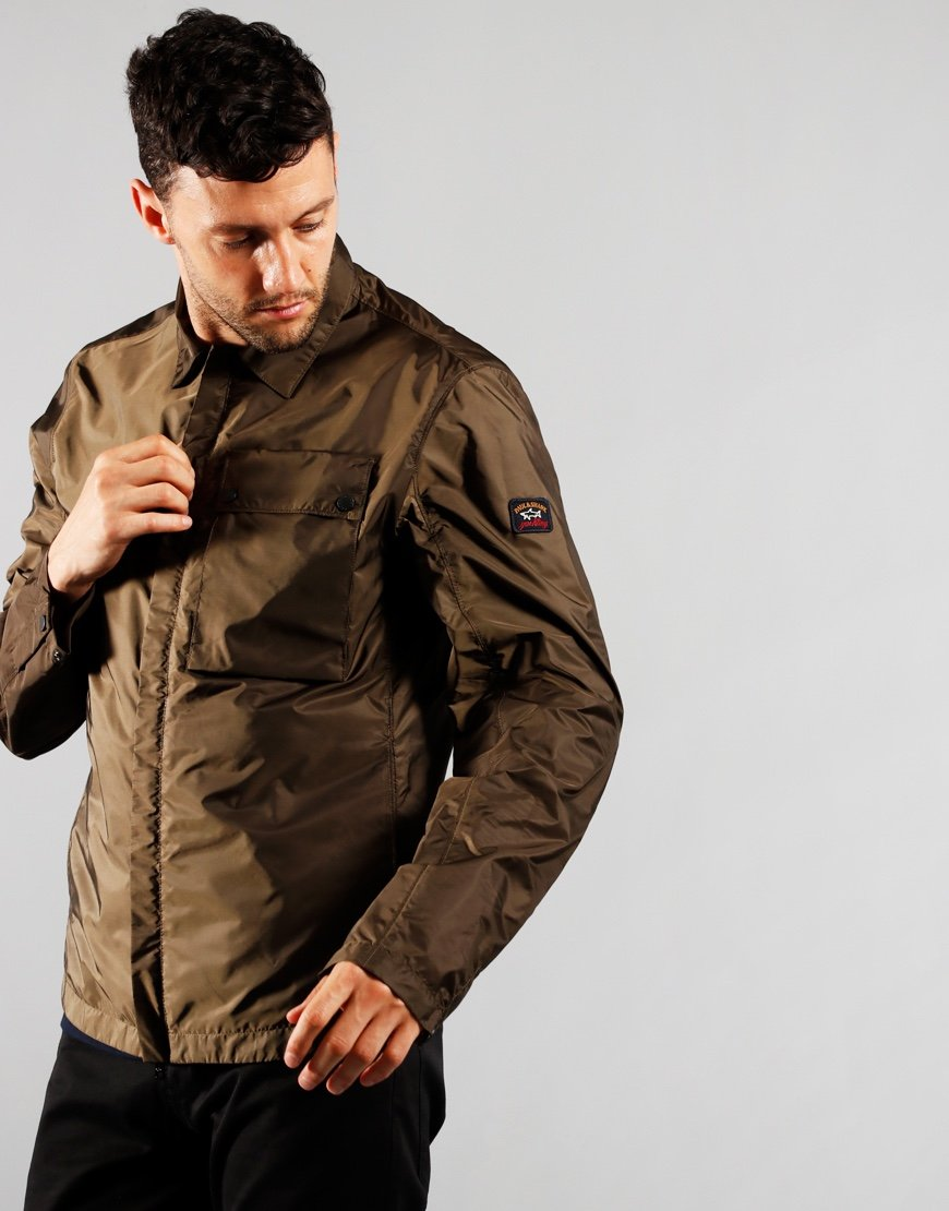Paul & Shark Nylon Overshirt Military Green