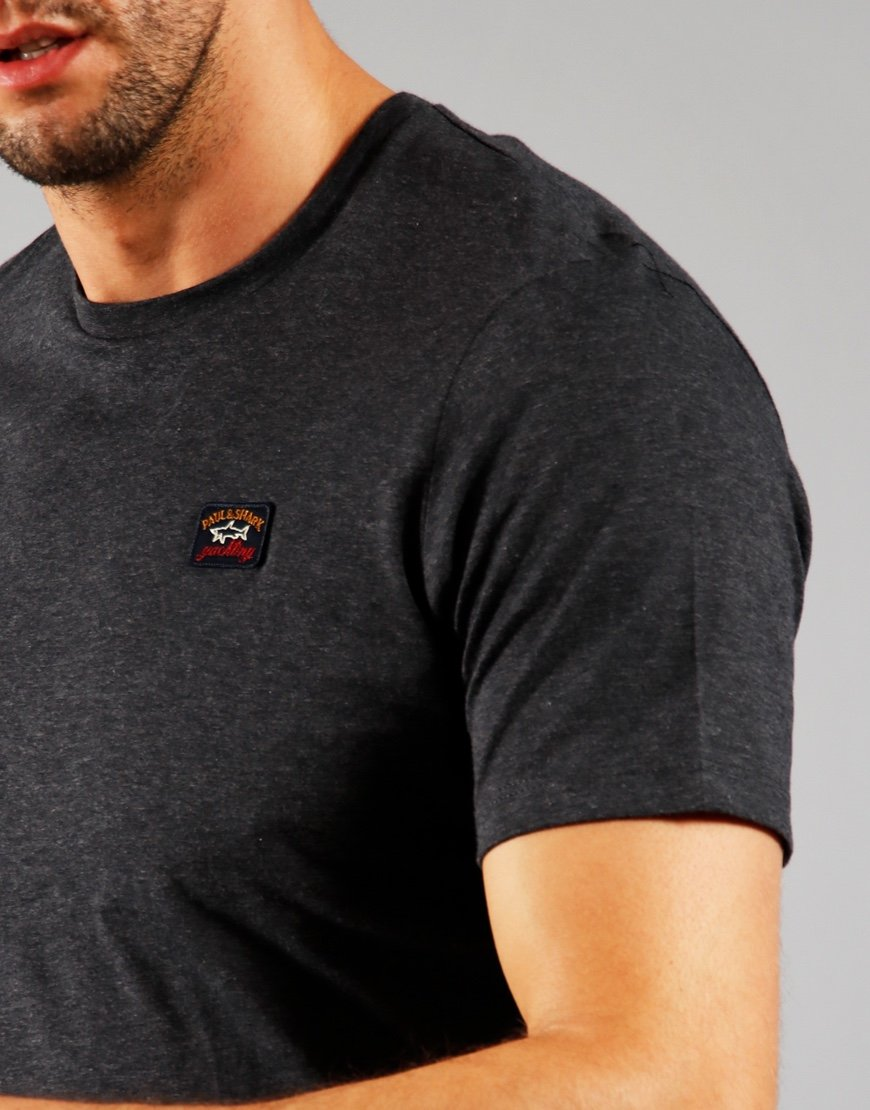 Paul & Shark Patch Logo T-Shirt Charcoal
