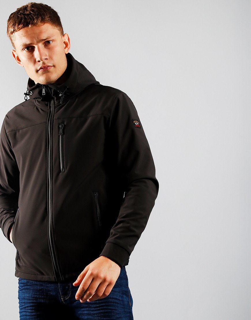 Paul & Shark Funnel Neck Softshell Jacket Black