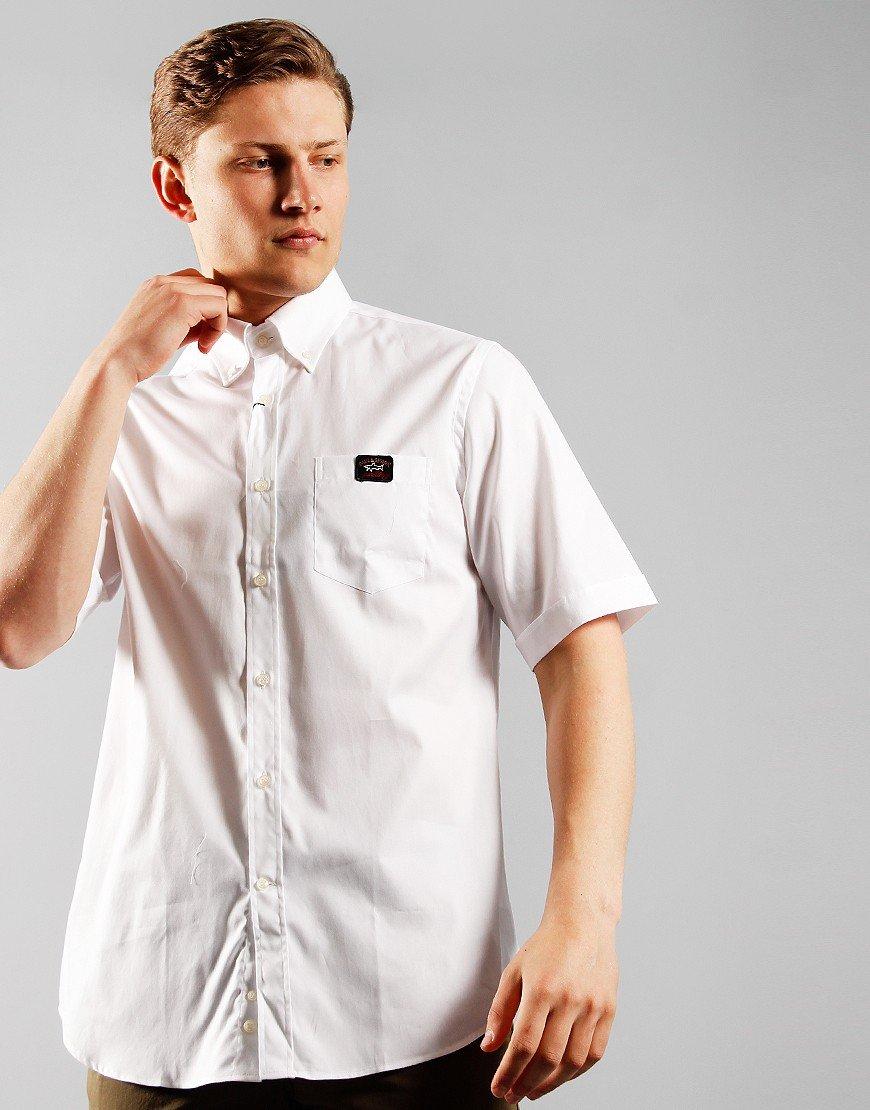 Paul & Shark Short Sleeve Woven Shirt White