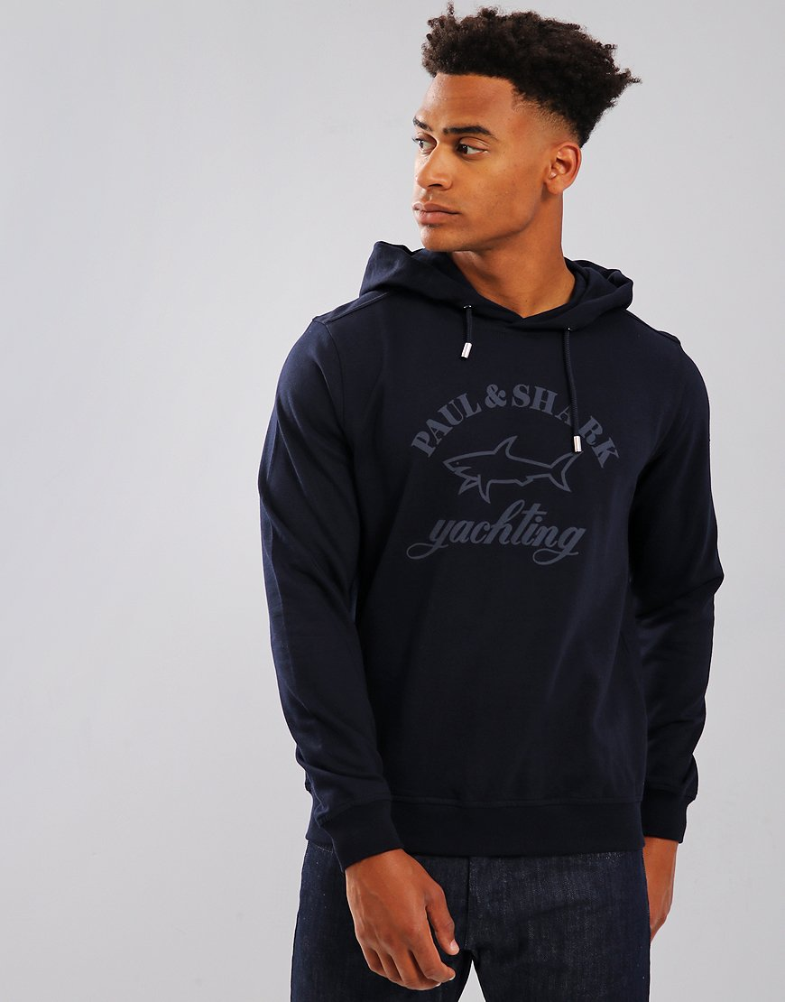 Paul & Shark Long Sleeve Hooded Sweatshirt Blue
