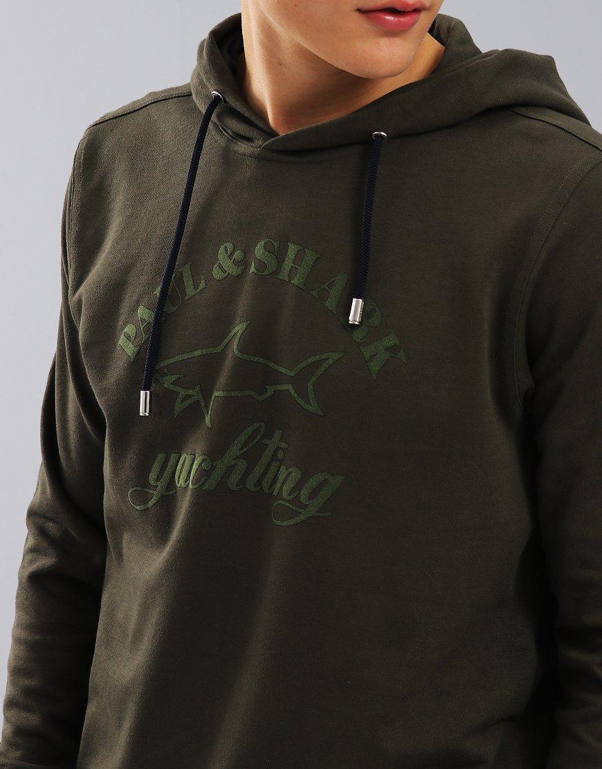 Paul & Shark Long Sleeve Hooded Sweatshirt Green