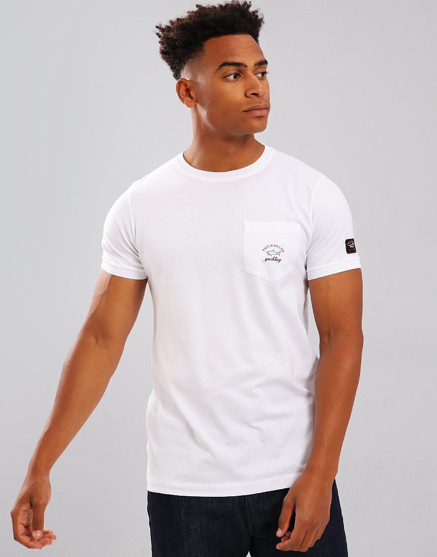 Paul & Shark Pocket T-Shirt With Arm Logo White