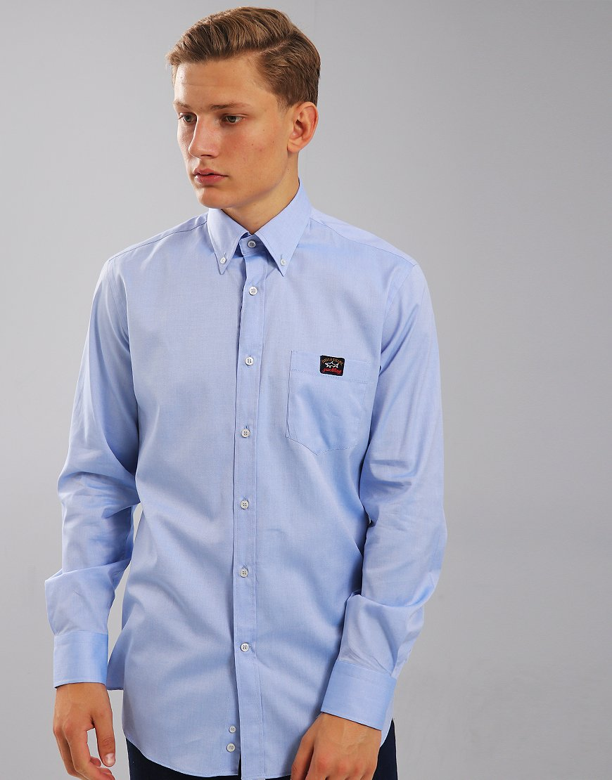 Paul & Shark Regular Fit Woven Shirt  Light Blue