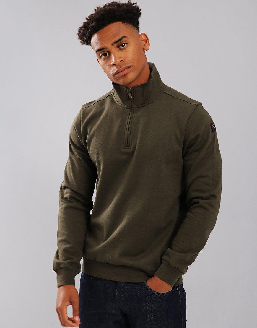 Paul & Shark Zip Neck Sweatshirt Green
