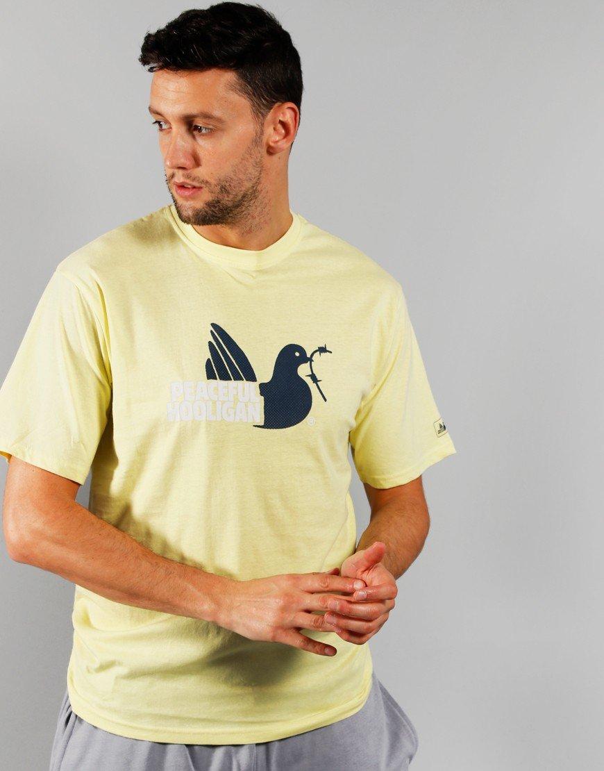 Peaceful Hooligan 2 Colour Dove T-Shirt Lime