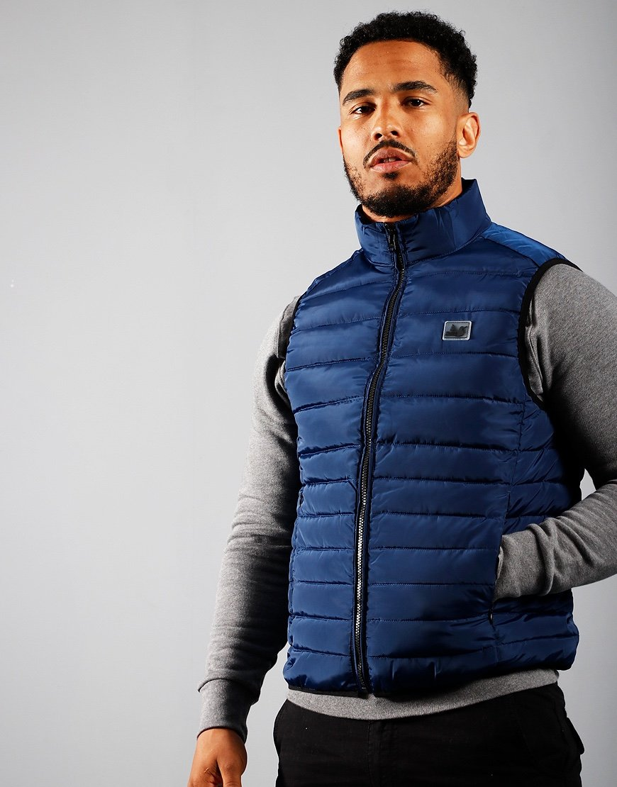 Peaceful Hooligan Base Gilet Navy