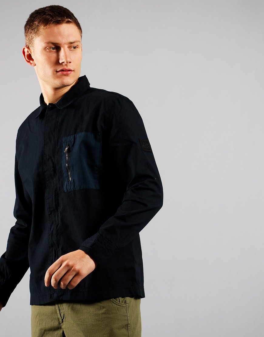 Peaceful Hooligan Colman Overshirt Navy