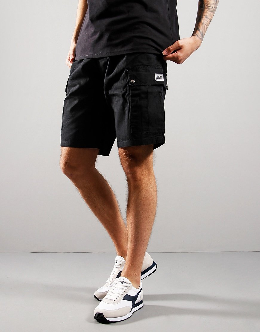 Peaceful Hooligan Container Ripstop Shorts Black