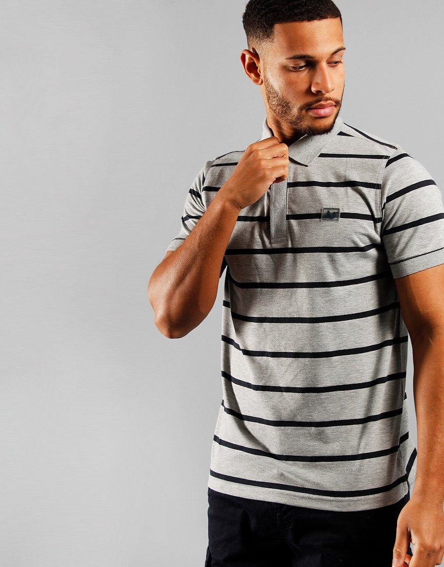 Peaceful Hooligan Denver Polo Shirt Marl Grey