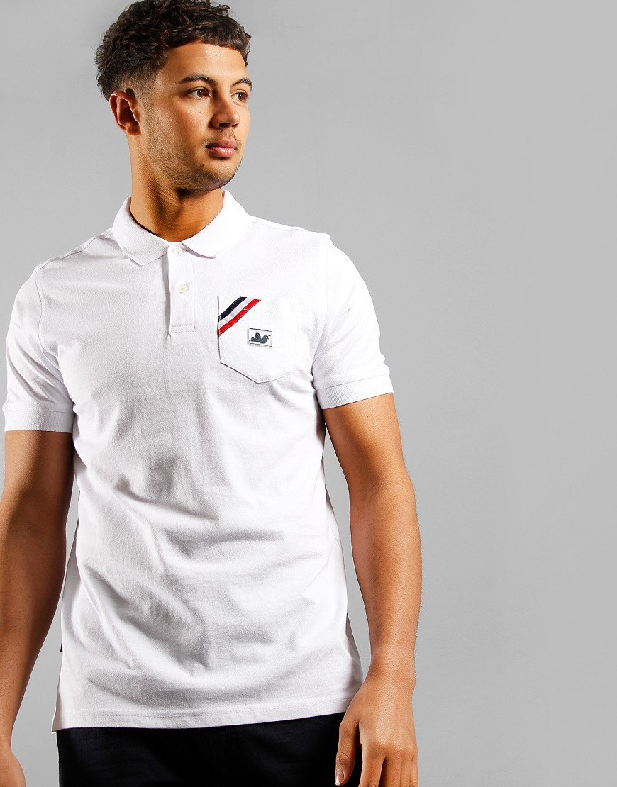 Peaceful Hooligan Ernest Polo Shirt White