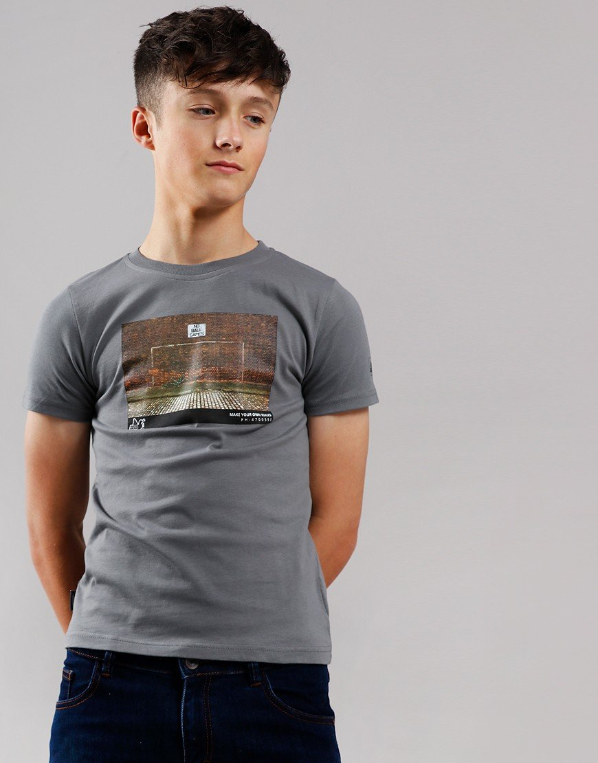 Peaceful Hooligan Junior Goal T-Shirt Grey