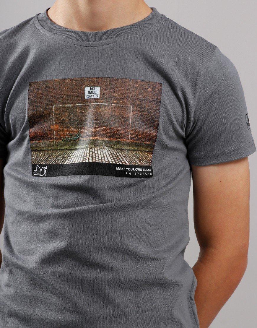 Peaceful Hooligan Junior Goal T-Shirt Grey