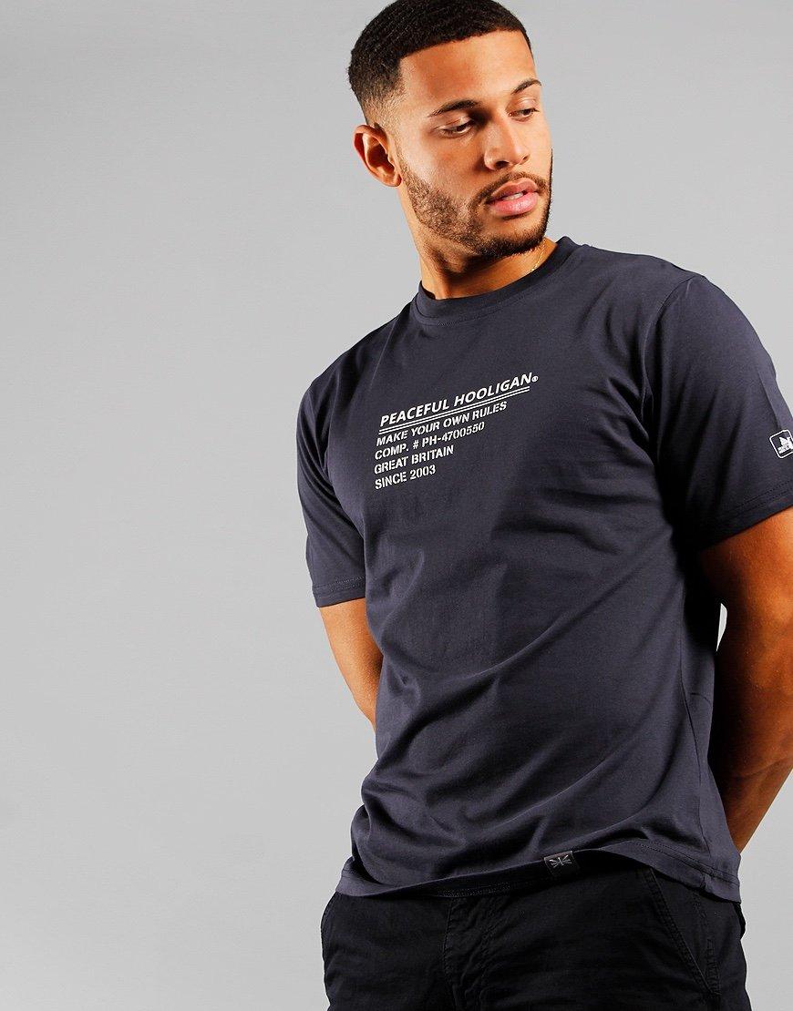 Peaceful Hooligan ID T-shirt Navy