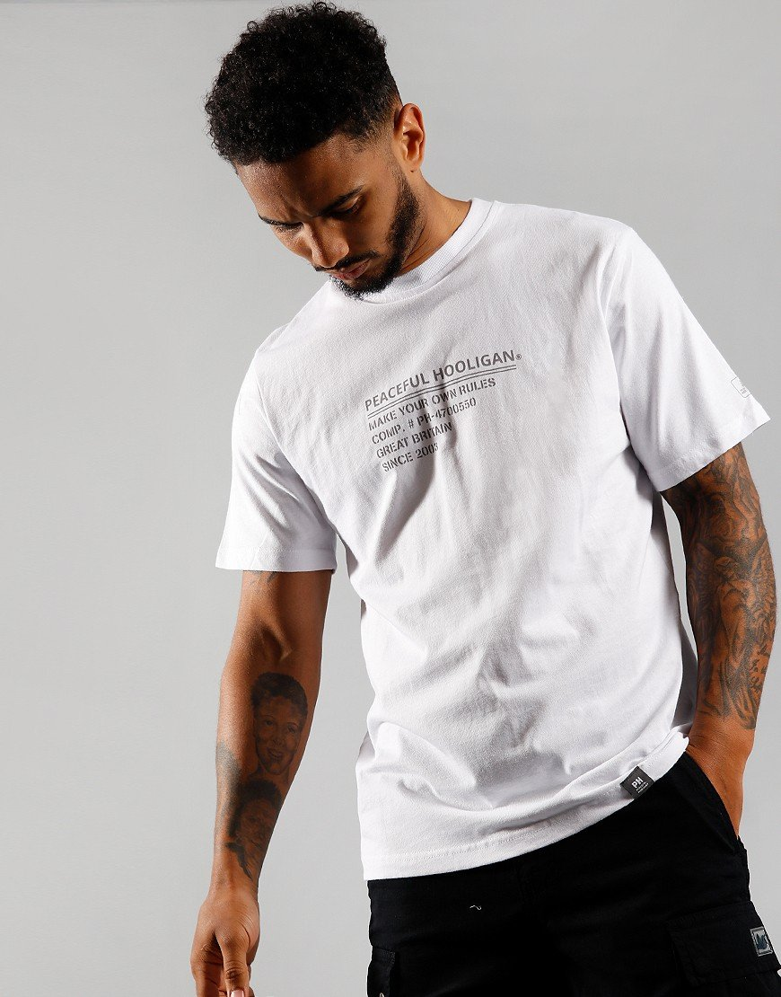Peaceful Hooligan ID T-Shirt White