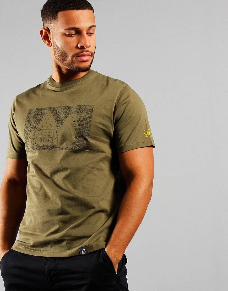 Peaceful Hooligan Justice T-Shirt Olive