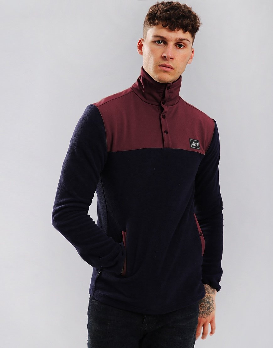 Peaceful Hooligan Lodge Fleece Black/Claret