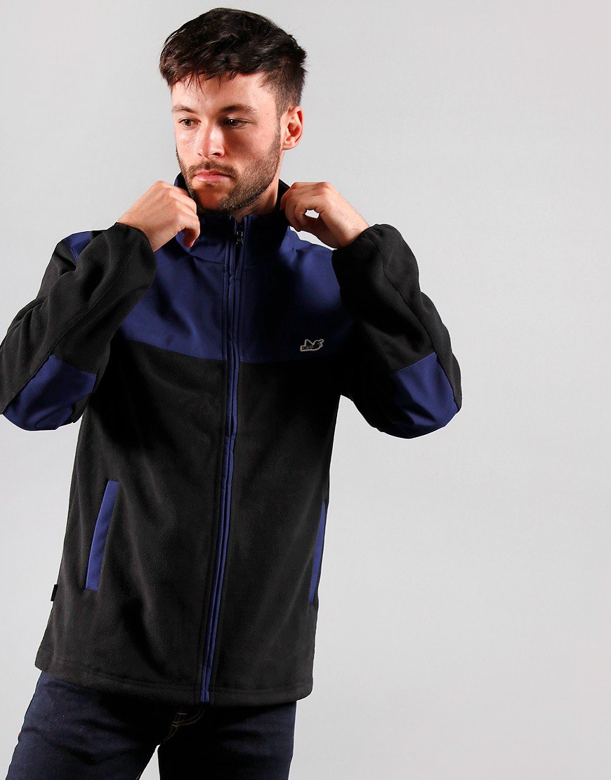 Peaceful Hooligan Lodger Fleece Jacket Navy